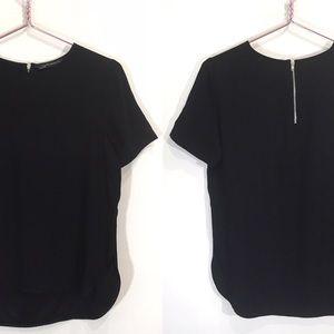 Zara Shortsleeve Blouse T-Shirt Black Small